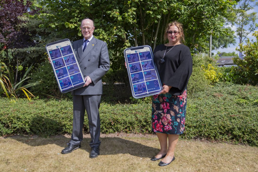 Professor Russel Griggs, SOSE Chair, with Jane Morrison-Ross, Chief Executive of South of Scotland Enterprise.