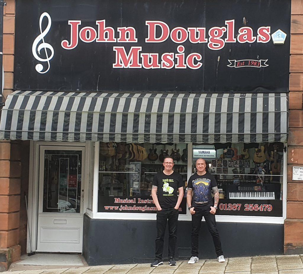 John Douglas Music featuring John Douglas, left, and Alec Rafferty.