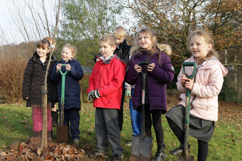 Love our fruit and nuts crossmichael primary planting day