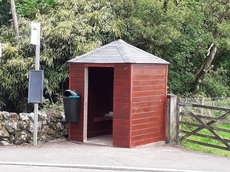 Image showing the refurbished bus shelter at Southwick