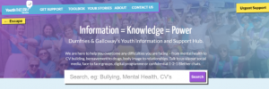 New, bespoke Online Support Hub for young people aged 12 to 25.